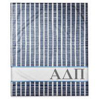 Designs Direct Alpha Delta Pi Squares Throw Blanket in Blue