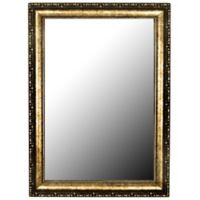 Hitchcock-Butterfield Roman Beaded 28-Inch x 38-Inch Mirror in Black/Gold