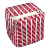 Designs Direct Chi Omega Squares Ottoman in Red