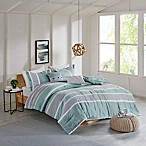 Isla Flannel 5-Piece Reversible Full/Queen Comforter Set in Teal