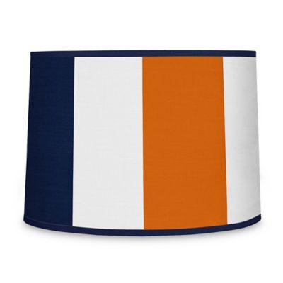 Sweet Jojo Designs Navy And Orange Stripe Lamp Shade