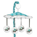 Sweet Jojo Designs Mod Elephant Musical Mobile in Turquoise/White