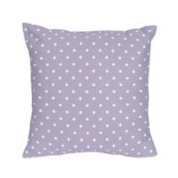 Sweet Jojo Designs Sloane Reversible Throw Pillow in Lavender/White