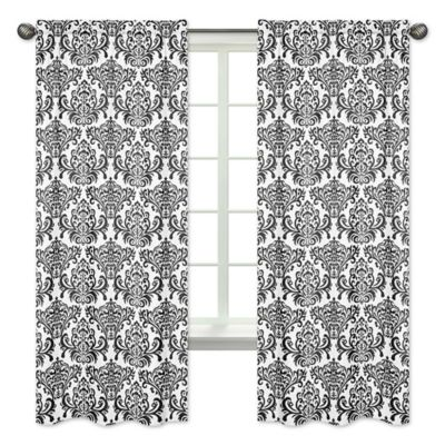 Curtains Ideas black and white damask curtains : Buy Black and White Damask from Bed Bath & Beyond