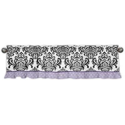 buy purple black window valance from bed bath & beyond