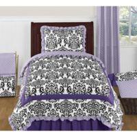 Sweet Jojo Designs Sloane 4-Piece Twin Comforter Set in Lavender/White