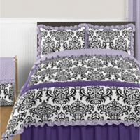 Sweet Jojo Designs Sloane 3-Piece Full/Queen Comforter Set in Lavender/White