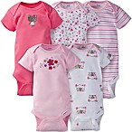 Gerber ONESIES® Brand Size 0-3M 5-Pack Floral Short Sleeve Bodysuits in Pink