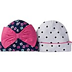 Gerber® Size 0-6M 2-Pack Floral/Princess Cuffed Caps