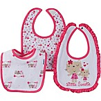 Gerber® 3-Pack  Little Sweetie  Terry Bibs in Pink