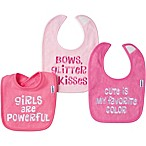 Gerber® 3-Pack Girl Saying Bibs