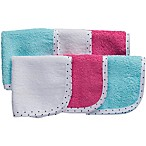 Gerber® 6-Pack Woven Washcloths in Pink/Blue