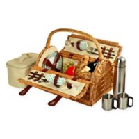 Picnic At Ascot Sussex Picnic Basket for 2 with Coffee Set in Blue