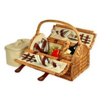 Picnic At Ascot Sussex Picnic Basket for 2 in Tan
