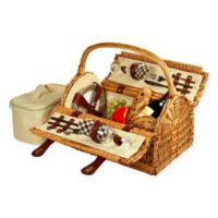 Picnic At Ascot Sussex Picnic Basket for 2 in Brown