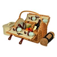 Picnic at Ascot Yorkshire Picnic Basket for 4 with Blanket in Gazebo