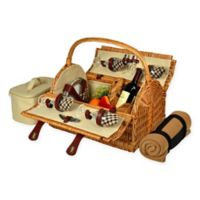 Picnic at Ascot Yorkshire Picnic Basket for 4 with Blanket in London Plaid