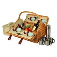 Picnic at Ascot Yorkshire Picnic Basket for 4 with Coffee Service in Gazebo