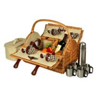 Picnic at Ascot Yorkshire Picnic Basket for 4 with Coffee Service in London Plaid