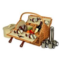 Picnic at Ascot Yorkshire Picnic Basket for 4 with Coffee Service in Santa Cruz