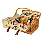 Picnic at Ascot Yorkshire Picnic Basket for 4 in London Plaid