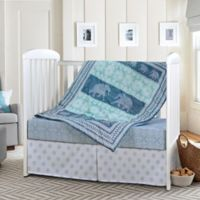 Laural Home Elephant Dreams 3-Piece Crib Bedding Set