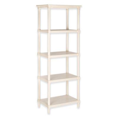 safavieh odessa wooden 5tier bookcase in white
