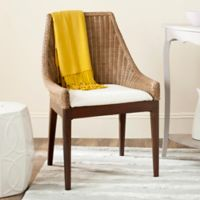 Safavieh Franco Rattan Sloping Chair in Brown