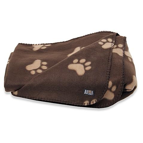 Animal planettm fleece pet blanket brown bed bath beyond for Animal planet dog blanket