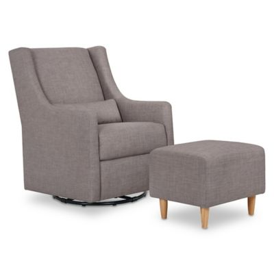 Furniture U003e Babyletto Toco Swivel Glider And Ottoman In Grey