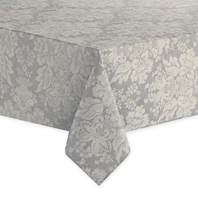 Waterford® Linens Berrigan 70 Inch X 144 Inch Oblong Tablecloth In Silver