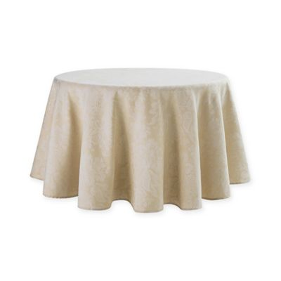 Waterford® Linens Berrigan 90 Inch Round Tablecloth In Gold