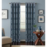 Colordrift Mandy 108-Inch Grommet Top Room-Darkening Window Curtain Panel in Indigo