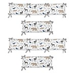 Sweet Jojo Designs Woodland Animals 4-Piece Crib Bumper Set
