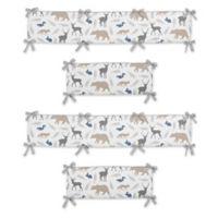 Sweet Jojo Designs Woodland Animals 4-Piece Crib Bumper Set