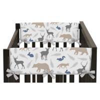 Sweet Jojo Designs Woodland Animals Reversible Side Crib Rail Guards (Set of 2)