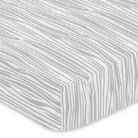 Sweet Jojo Designs Woodland Animals Wood Grain Fitted Crib Sheet