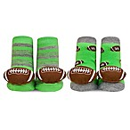 Waddle® 2-Pack Football Rattle Socks in Green