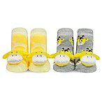 Waddle® 2-Pack Giraffe Rattle Socks in Yellow