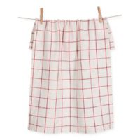 Lyon Grid Towels in Red (Set of 2)