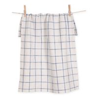 Lyon Grid Towels in Blue (Set of 2)