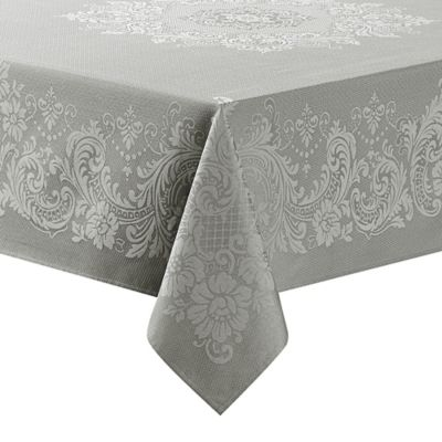 Wonderful Waterford® Linens Celeste 70 Inch X 144 Inch Oblong Tablecloth In Silver