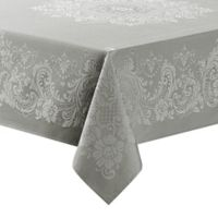 Waterford® Linens Celeste 70-Inch x 84-Inch Oblong Tablecloth in Silver