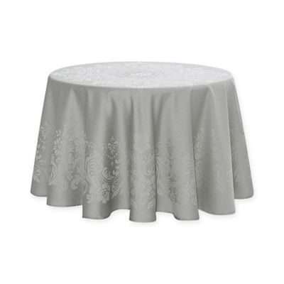 Superieur Waterford® Linens Celeste 70 Inch Round Tablecloth In Silver