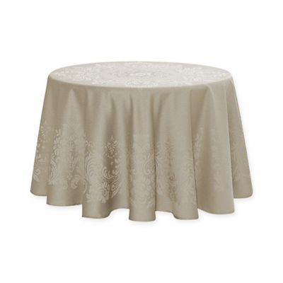 Waterford® Linens Celeste 70 Inch Round Tablecloth In Taupe