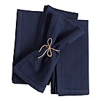 Laguna Hemstitch Napkins in Navy (Set of 4)