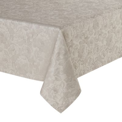 Waterford® Linens Camille 70 Inch X 144 Inch Oblong Tablecloth In Taupe