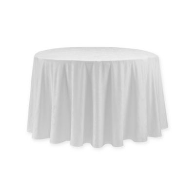 Waterford® Linens Camille 90 Inch Round Tablecloth In White