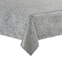 Waterford® Linens Esmeralda 70-Inch x 144-Inch Oblong Tablecloth in Platinum