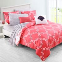 VCNY Home Inspire Me Gia Reversible 2-Piece Twin XL Comforter Set in Coral